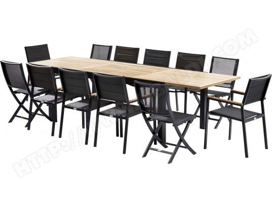 Table et chaises de jardin moderne Bali 4 chaises 8 fauteuils WILSA ...