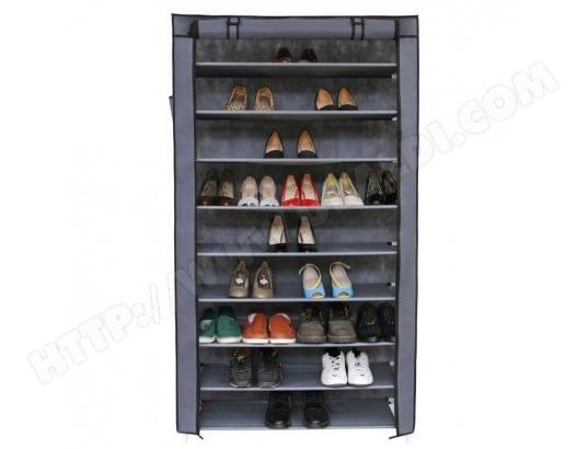 armoires penderie tissu meuble de rangement chaussure gris 160 cm 2012035 helloshop26 2012035. Black Bedroom Furniture Sets. Home Design Ideas