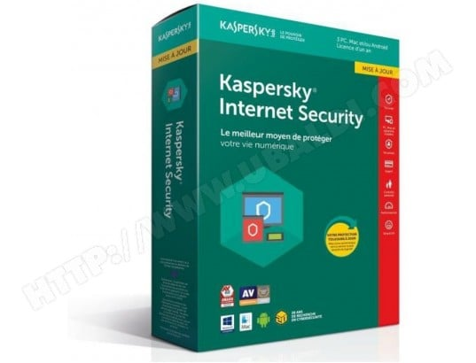 Kaspersky Internet Security 2018 - 1 an mise à jour 3 PC KASPERSKY 118978