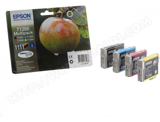 pack 4 cartouches d 39 encre epson pomme t1295 easy mail packaging epson 116022 pas cher. Black Bedroom Furniture Sets. Home Design Ideas