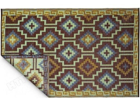 Tapis Intérieur Extérieur Lhasa Bleu Roi Et Chocolat Fabhabitat