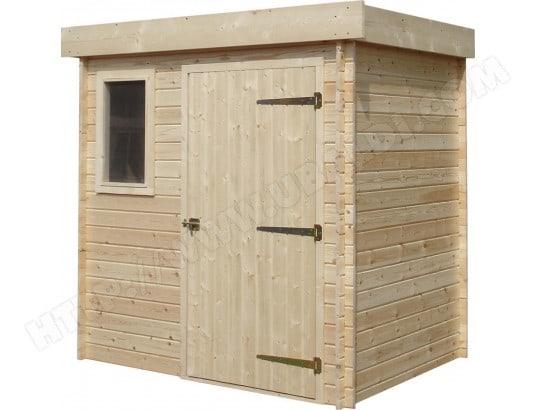 Abri de jardin moderne en bois non trait futuro cihb for Cihb