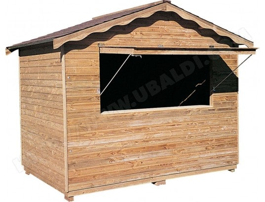 abri en bois type stand cihb 26646 pas cher