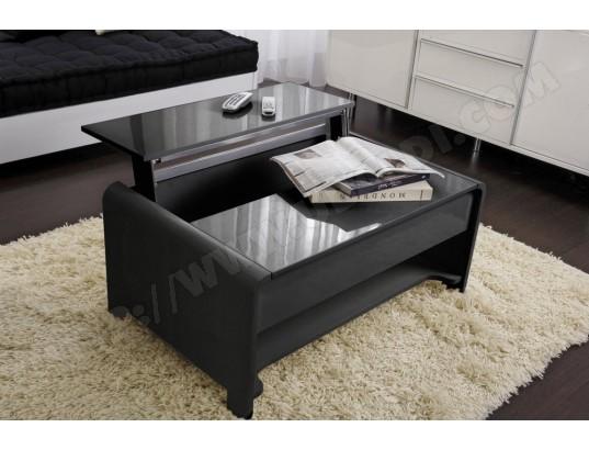 Table Basse Ub Design San Francisco Laquée Noire 90 X 60 Cm Pas Cher
