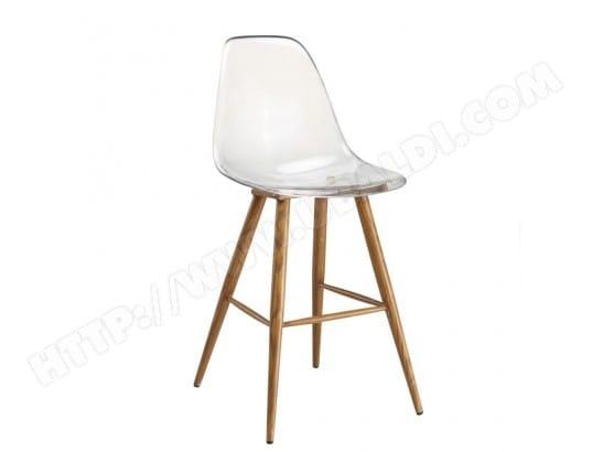 Chaise De Bar Design Scandinave OSANA En Polycarbonate Transparent INSIDE75 20100875702
