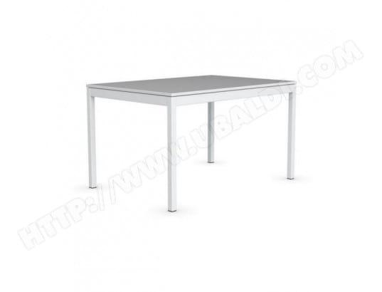 Snap Table Extensible Piétement 130x90 Blanc Multistripe Soie Laqué Ivb7Yf6gy