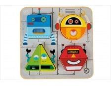 Puzzle d'éveil en bois Robots - Hape HAPE 1282