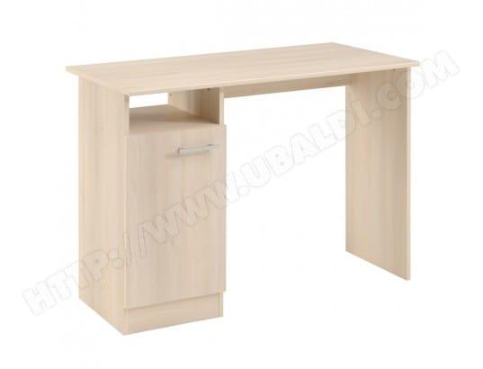 Bureau avec rangement acacia blanc george bureau pas cher