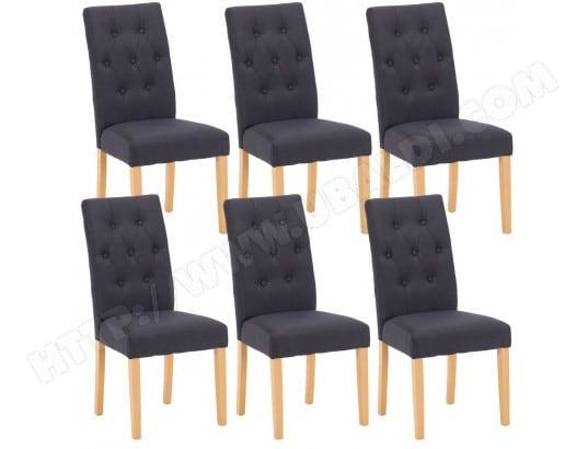 oxford lot de 6 chaises noires altobuy 8403 pas cher. Black Bedroom Furniture Sets. Home Design Ideas