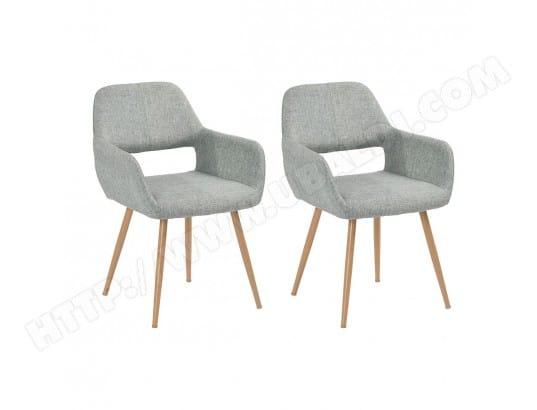 Delf lot de 2 chaises grises altobuy 8745 pas cher for Lot de 6 chaises grises pas cher