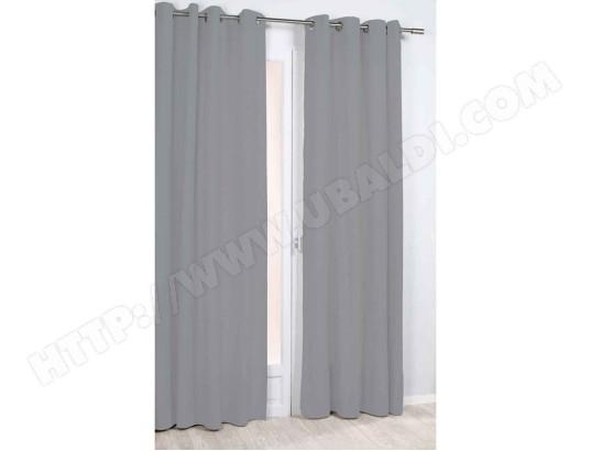 rideau thermique et phonique uni gris rocle 1214 3457 pas cher. Black Bedroom Furniture Sets. Home Design Ideas