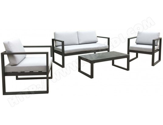 Salon de jardin en aluminium Dina 4 personnes PROLOISIRS MA ...