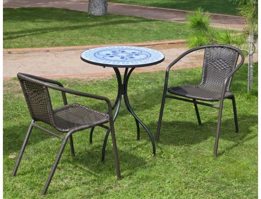 salon de jardin 2 personnes plateau mosa que berna brasil hevea ma 22ca281salo hsm63 pas cher. Black Bedroom Furniture Sets. Home Design Ideas