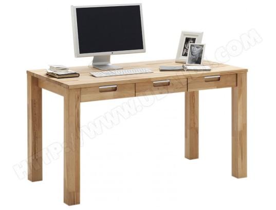 Bureau avec tiroirs en bois massif hêtre cm cm p