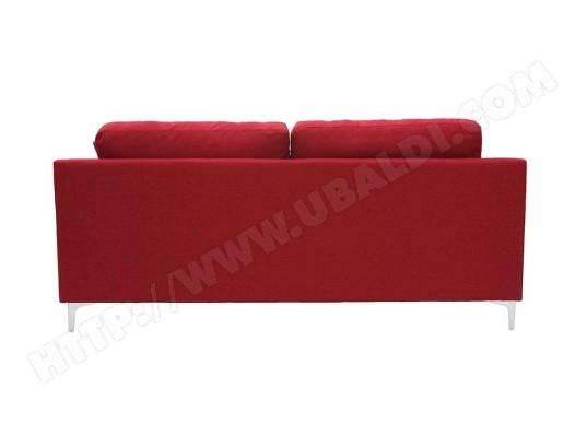 105d13cda9d922 Canapé design 3 places en tissu rouge BOMEN MILIBOO MA-78CA93 CANA-4SJMU