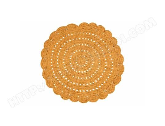 tapis rond en crochet jaune 120 cm alma miliboo ma 78ca183tapi ejtlm pas cher. Black Bedroom Furniture Sets. Home Design Ideas