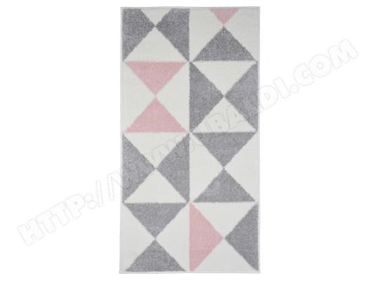 tapis de salon scandinave forsa rose pastel 60x110cm koton for21776ros60110 pas cher. Black Bedroom Furniture Sets. Home Design Ideas