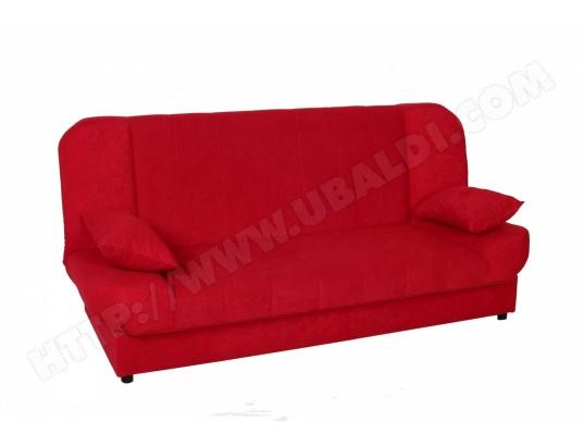 Maddy Banquette Clic Clac Convertible En Tissu Rouge Mobilier Deco