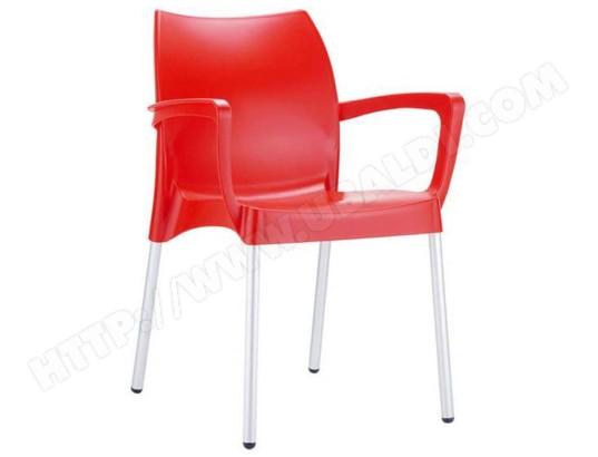 De Jardin En Pegane Ma Chaise Empilable PlastiqueBordeaux QxoeCWrdB