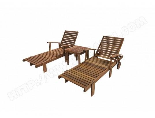 Bain de soleil pliant en bois exotique Tokyo - Mahogany ...