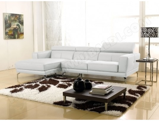 Canape Cuir Angle Oslo Gauche Blanc La Maison Du Canape Ma 95ca93 Cana Pciha Pas Cher Ubaldi Com