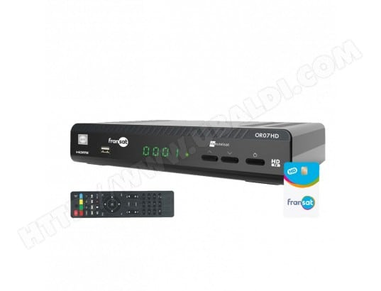 WISI OR07HD Récepteur satellite HD + Carte Fransat PC6 WISI OR07