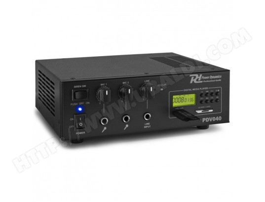 Amplificateur PA 40W - 100V - 24V MP3 - EQ - Power Dynamics PDV040 POWER DYNAMICS MA-79CA262AMPL-N6THT
