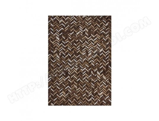 tapis plat en cuir patchwork beige patchwork90x160 cm. Black Bedroom Furniture Sets. Home Design Ideas