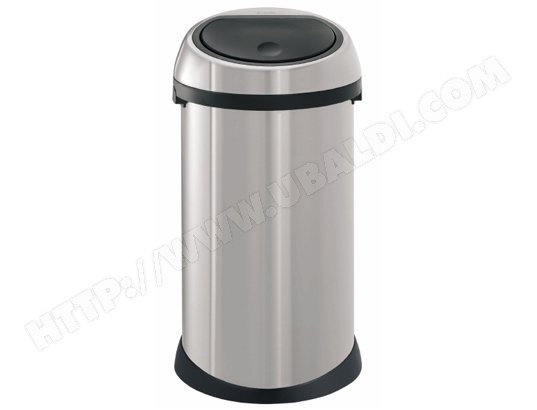 brabantia touch bin 50l matt steel 288661 pas cher. Black Bedroom Furniture Sets. Home Design Ideas