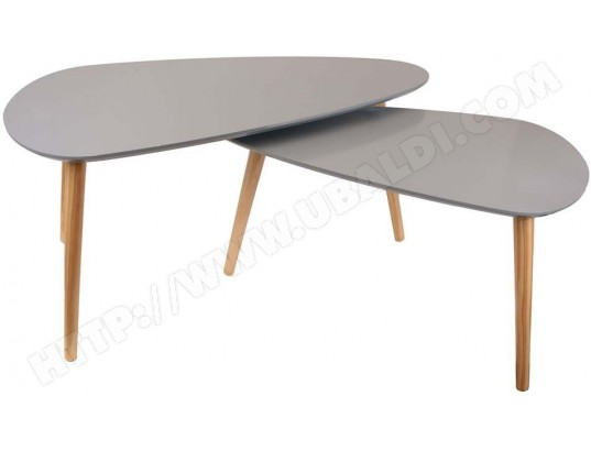 Tables Basses Gigognes Galet Lot De 2 The Home Deco Factory