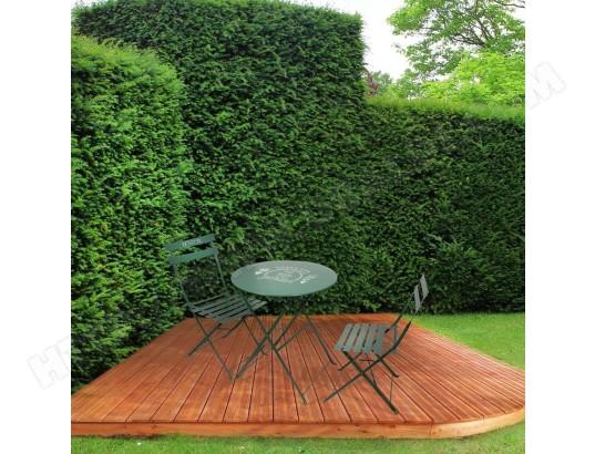 THE HOME DECO FACTORY Table et chaises de jardin en métal Illustrations MA 23CA281TABL BS4KE