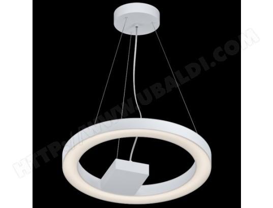 Suspension Luminaire Cuisine Alvendre Led D48 Cm Blanc Eglo Ma