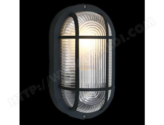 Applique plafonnier extérieure ovale anola h20 cm ip44 noir eglo