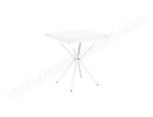 Table de jardin en Plastique blanc - 70 x 70 x 72 cm -PEGANE- PEGANE ...