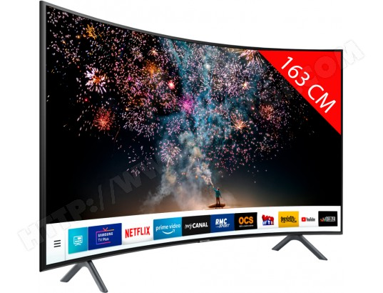 TV LED 4K incurvé 163 cm SAMSUNG UE65RU7305 - HDR10+ - PurColor - Smart TV