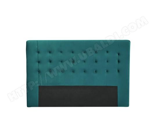 nabucco t te de lit en velours 170 cm couleur bleu canard drawer ma 72ca191nabu zo180 pas. Black Bedroom Furniture Sets. Home Design Ideas