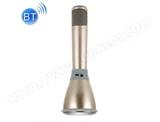 Microphone sans fil-K068 Portable 2 en 1 Bluetooth Home KTV Microphone Haut-Parleur pour iPhone & Android Smart Phone (Or) TBD MA-15CA266MICR-WIJYK
