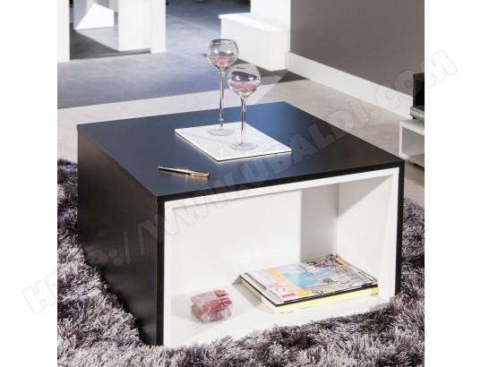 Table basse modulable Montaud Noir/Blanc CAMIF MA ...