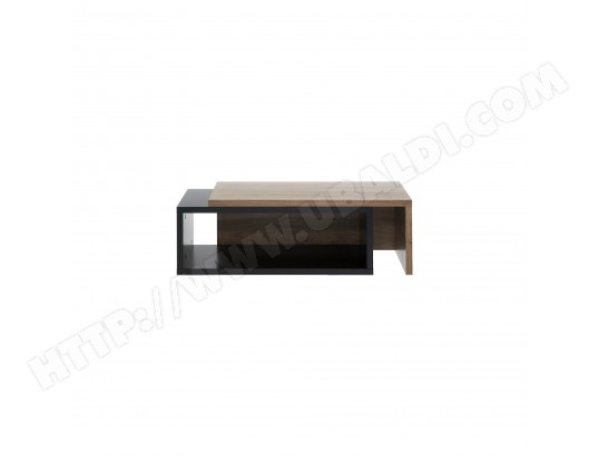 TemaHome - Table Basse 90cm \'\'Jazz\'\' Noir & Noyer CAMIF MA ...