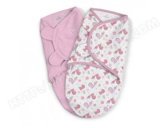 Lot de 2 couvertures d'emmaillotage Rose SUMMER INFANT couverture-x2-rose-summer-infant