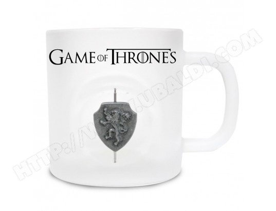 Game of Thrones - Mug en verre Lannister avec Logo 3D Rotatif SD TOYS MA-52CA587GAME-4TP9L