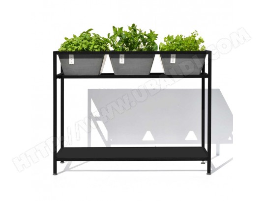 table pour plantes aromatiques berlin gris ecopots ecopots ma 10ca281tabl i8ne3 pas cher. Black Bedroom Furniture Sets. Home Design Ideas