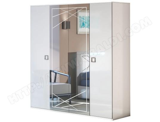 Rosabel Armoire 4 Portes Avec Miroir Central Altobuy Ma 23ca194rosa W5y49 Pas Cher Ubaldi Com