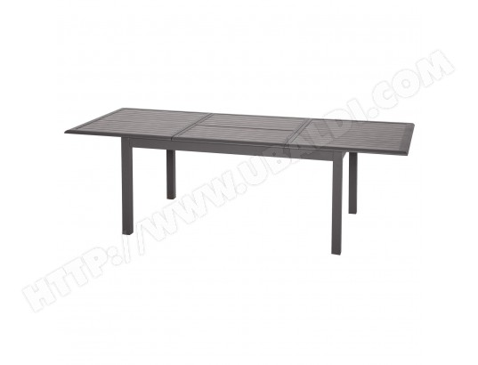 Table de jardin extensible Azua - 10 Personnes - Marron ...