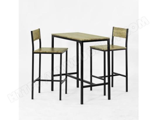 Ogt03 Ensemble Table De Bar 2 Chaises Set De 1 Table 2 Chaises Table Haute Cuisine Sobuy Ogt03 Pas Cher Ubaldi Com