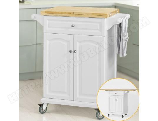 Fkw36 Wn Table Roulante Meuble De Rangement Pour Cuisine Chariot
