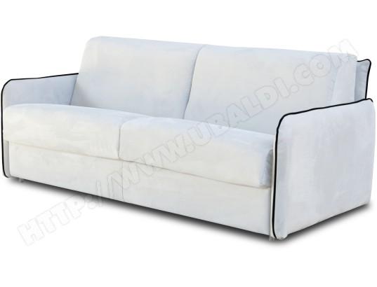 Canapé lit CITY Augusta 3 pl convertible 160x200cm blanc ...
