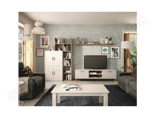 Ensemble Bibliotheque Meuble Tv Table Basse Kronos 111plus Compose De 5 Elements Hevea Ma 22ca487ense Wg27b Pas Cher Ubaldi Com