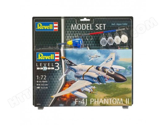 Maquette Avion : Model Set : F-4J Phantom II REVELL MA-62CA376MAQU-0WT1Z