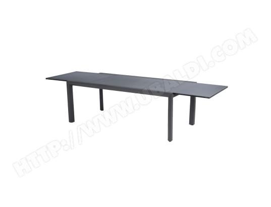 Table de jardin extensible Titanium - 12 Personnes - Gris ...